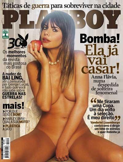 Revista Playboy Capa Anna Fl Via Cicarelli Junho Editora Abril