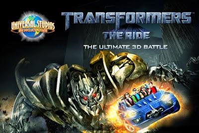 Transformer 3D Ride - Wisata Tour Mancanegara: Universal Studio di Singapura
