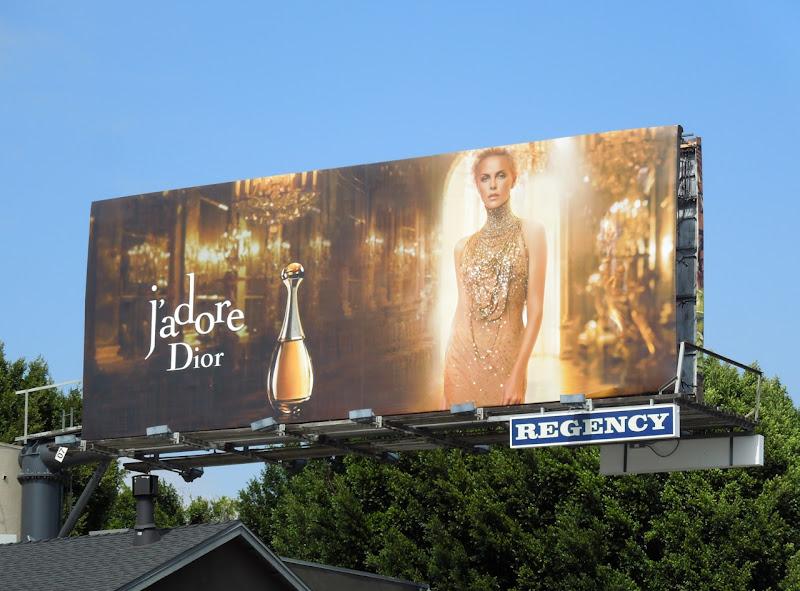 Charlize Theron JAdore Dior perfume billboard