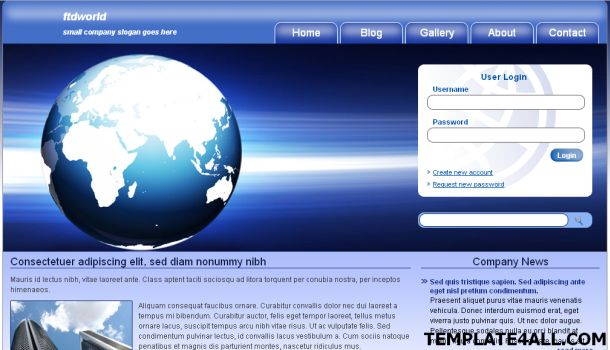 World Business Blue CSS Website Template