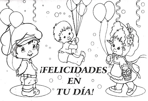 Dibujo de niños tomados de la mano.