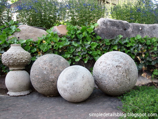 Stone Landscape Projects : Simple details diy restoration hardware garden spheres
