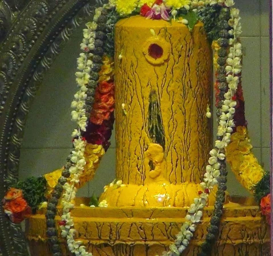 shiva lingam decorated image