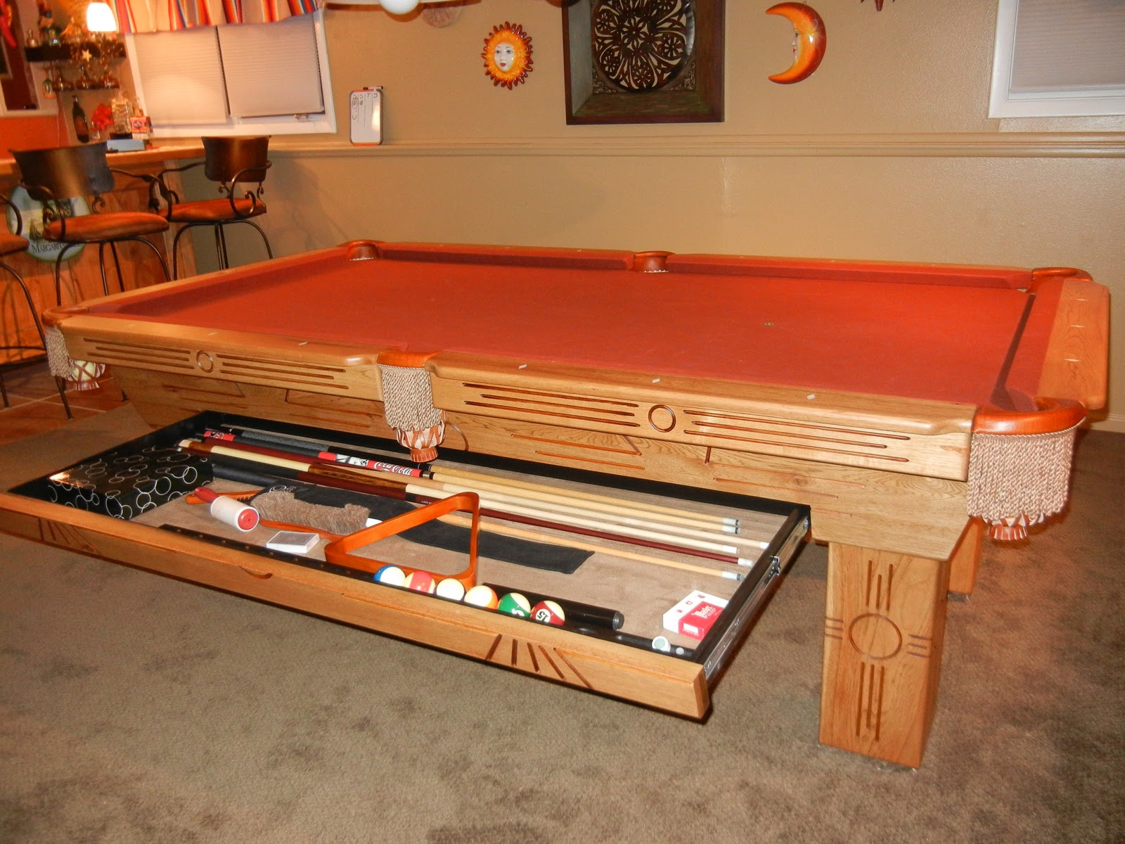 Big Break Billiards Another Satisfied Customer The Connelly Azteca - How big is a pool table
