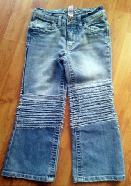 fashion and recycling for kids: faux chenille capri pants tutorial