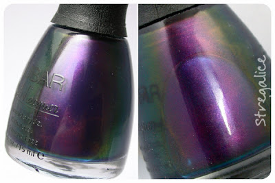 Nubar Peacock Feathers multichrome green blue purple bottle
