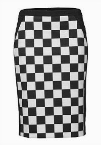 Longer style 2 Tone chequered skirt