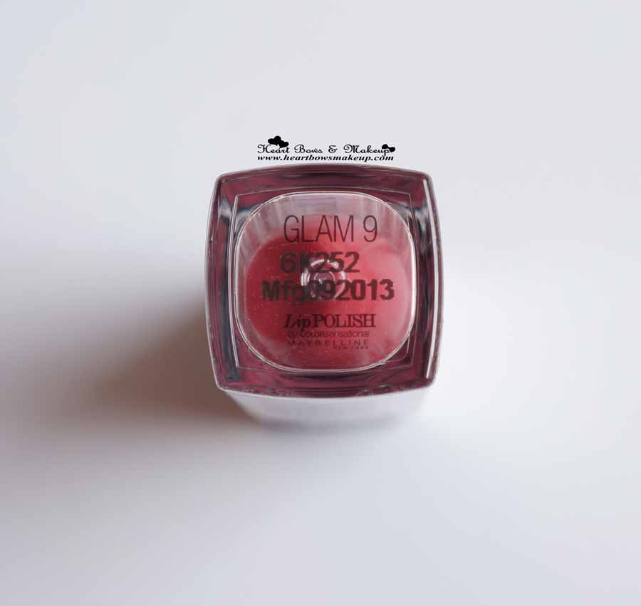 Maybelline lip Polish Glam 9 Review
