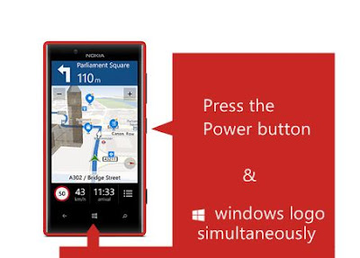 take screenshot on windows phones