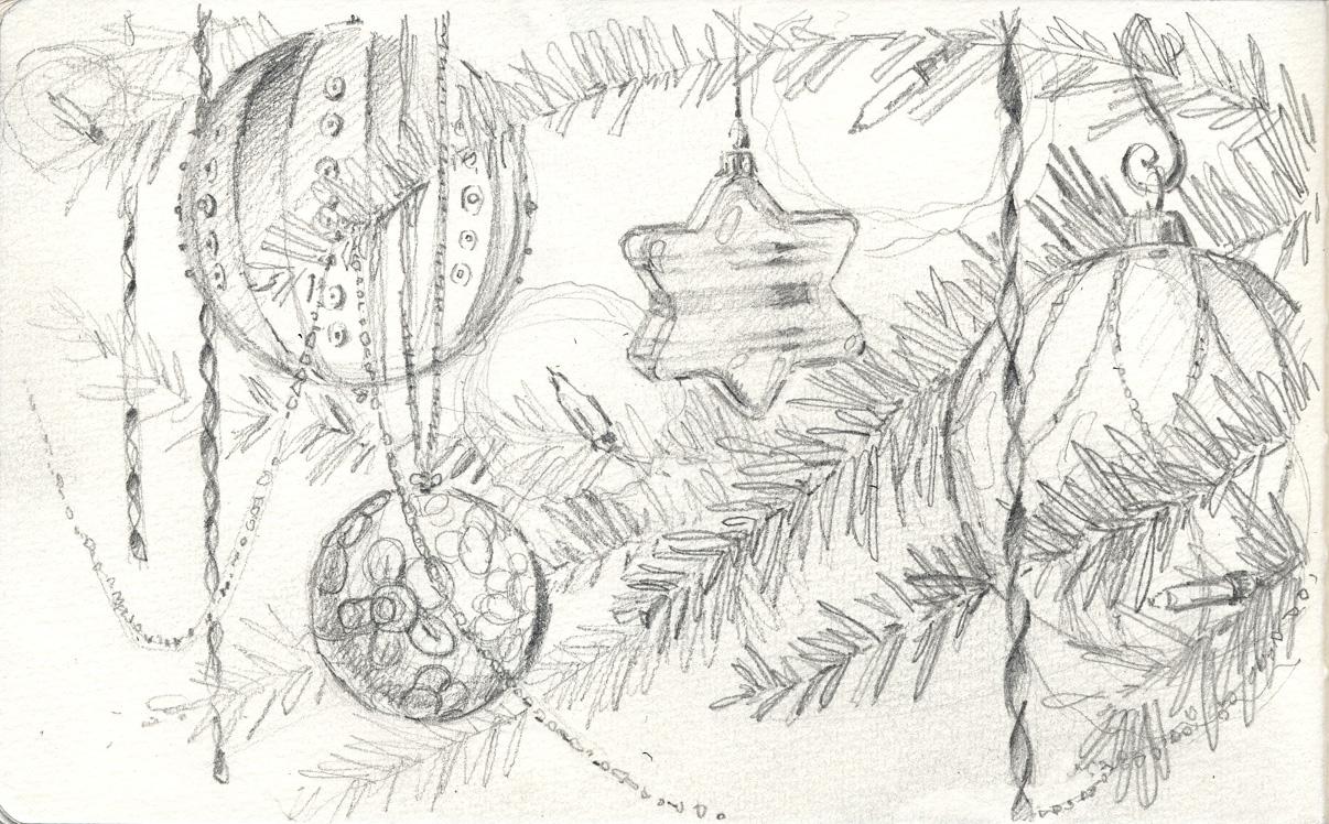 Urban Sketchers Seattle Ornaments