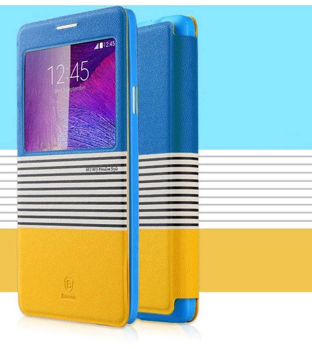 เคส Note 4 ฝาพับ Eden 141048 สีน้ำเงิน-เหลือง