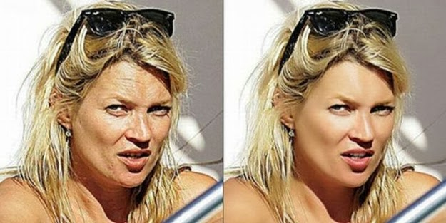 Kate Moss antes y despues photoshop