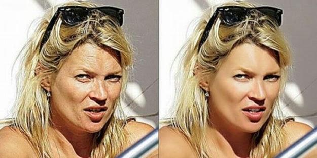 Kate Moss antes y despues photoshop