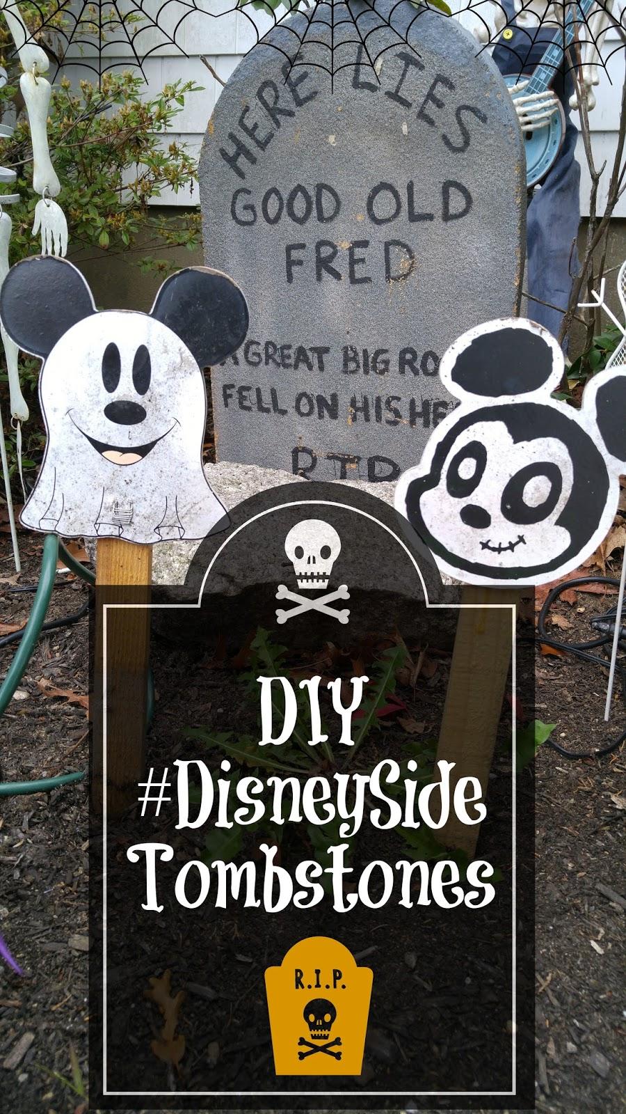 Decoration Halloween Disney : Disney halloween decor disneyside tombstones