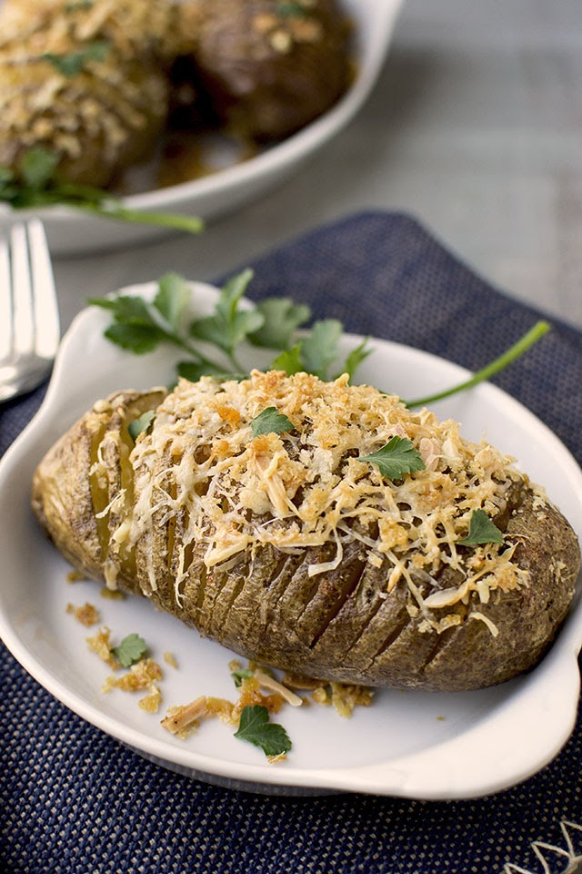 Hasselback Potatoes with Paprika & Parmesan