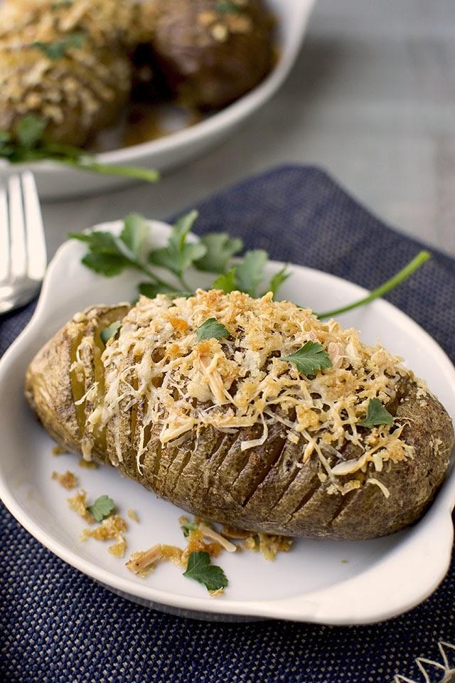 Hasselback Potatoes with Paprika & Parmesan