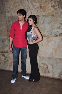 Alia Bhat and siddarth at special screening of 'Ship Of Theseus'