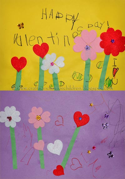 Valentine's Day Heart Flower Garden Craft