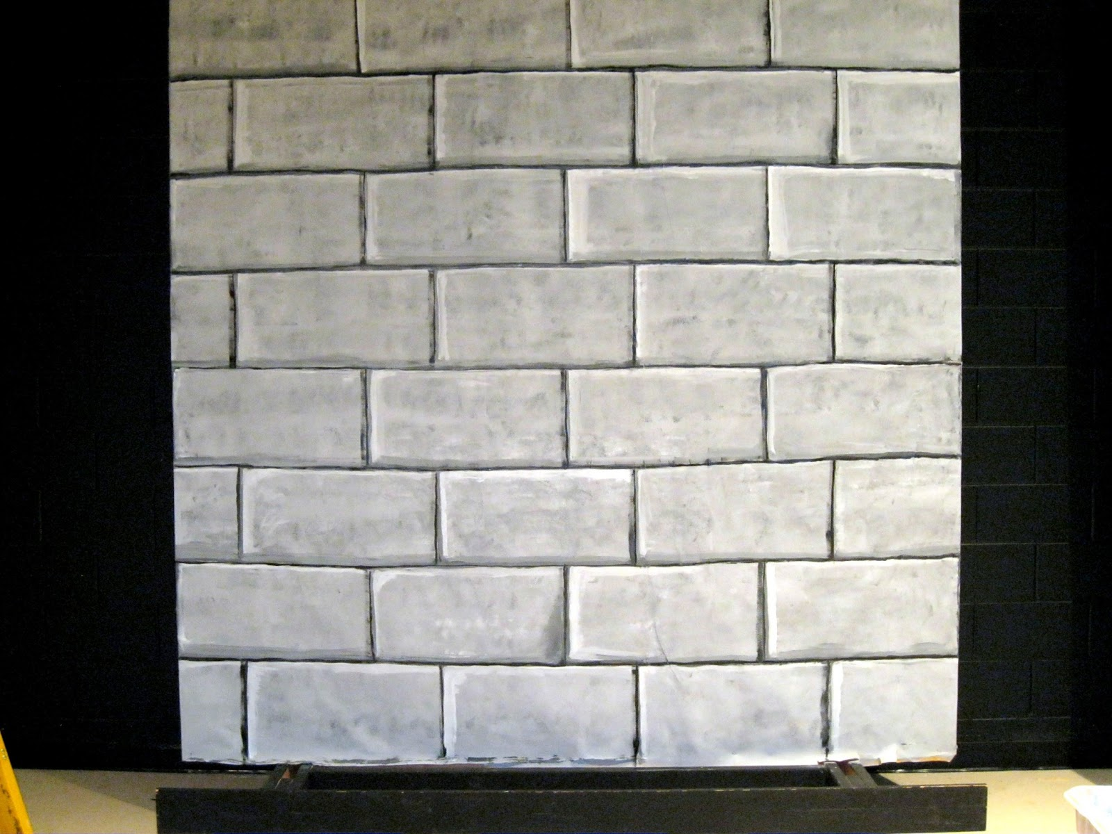 castle wall/stone block set design | art class ideas