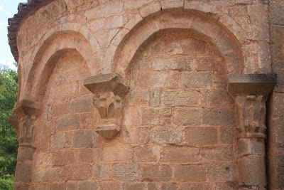 Apse of Sant Martí romanesque church in Mura