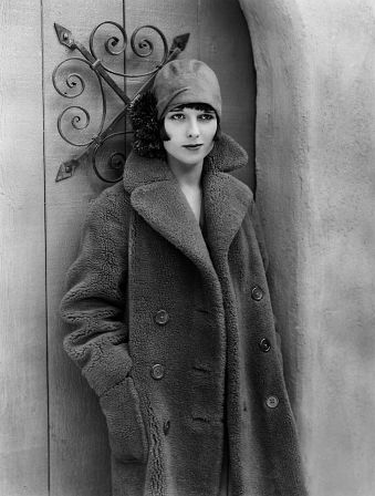 Saucy Louise Brooks #1920s #fashion #coat #vintage #winter