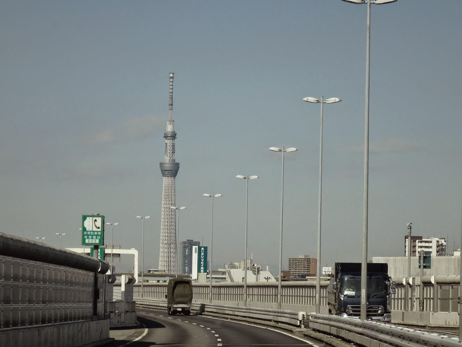 As soon as we see Tokyo Skytree, we know we are reaching Tokyo downtown from Narita International Airport in Tokyo, Japan