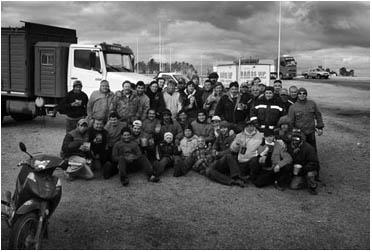 Protesta de camioneros 2008