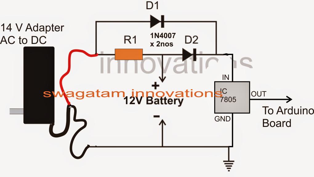 How to Make a Arduino Mains Failure Battery Backup Circuit