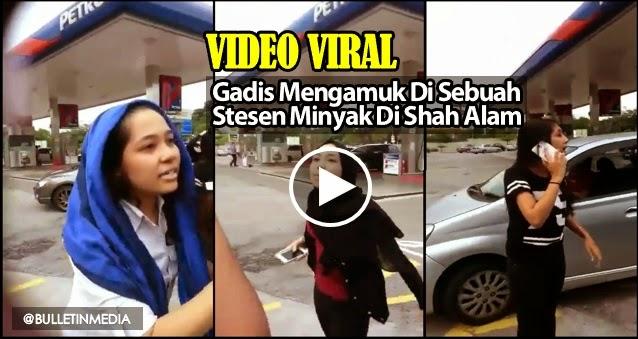 Video Gadis Myvi Mengamuk Di Sebuah Stesen Minyak Di Shah Alam