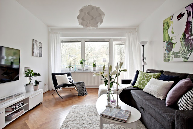 Wonderful scandinavian interior with all of details