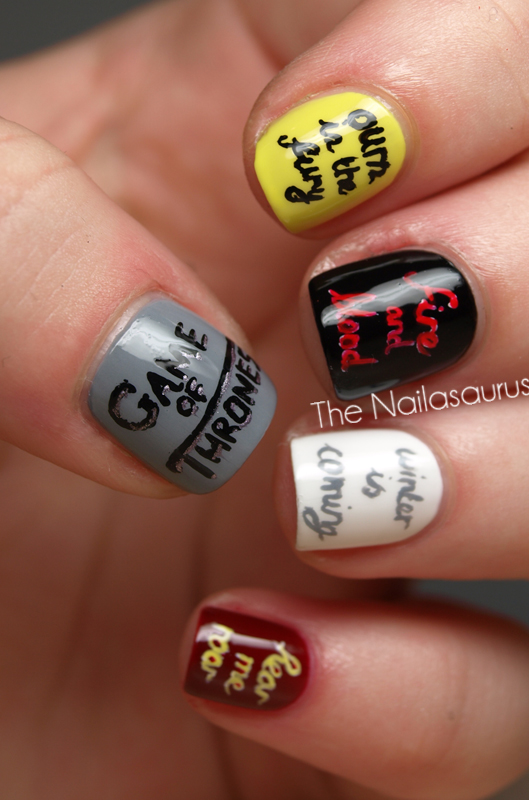 You Win or You Die (Game Of Thrones Nail Art) - The Nailasaurus | UK ...