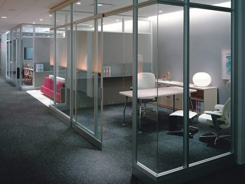 glass office partition for practicality and aesthetic appeal