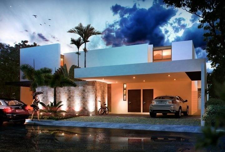 Fachadas de casas modernas junio 2013 - Decoracion de cocheras modernas ...