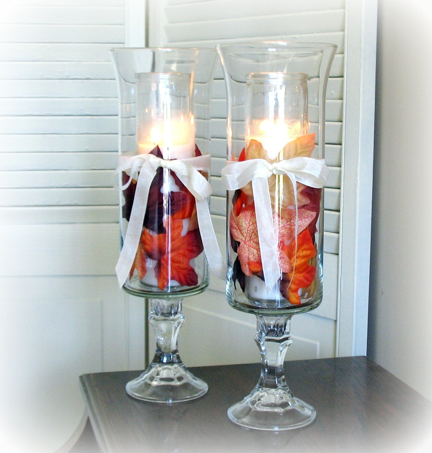 DIY Hurricane Lamps Nice Ideas