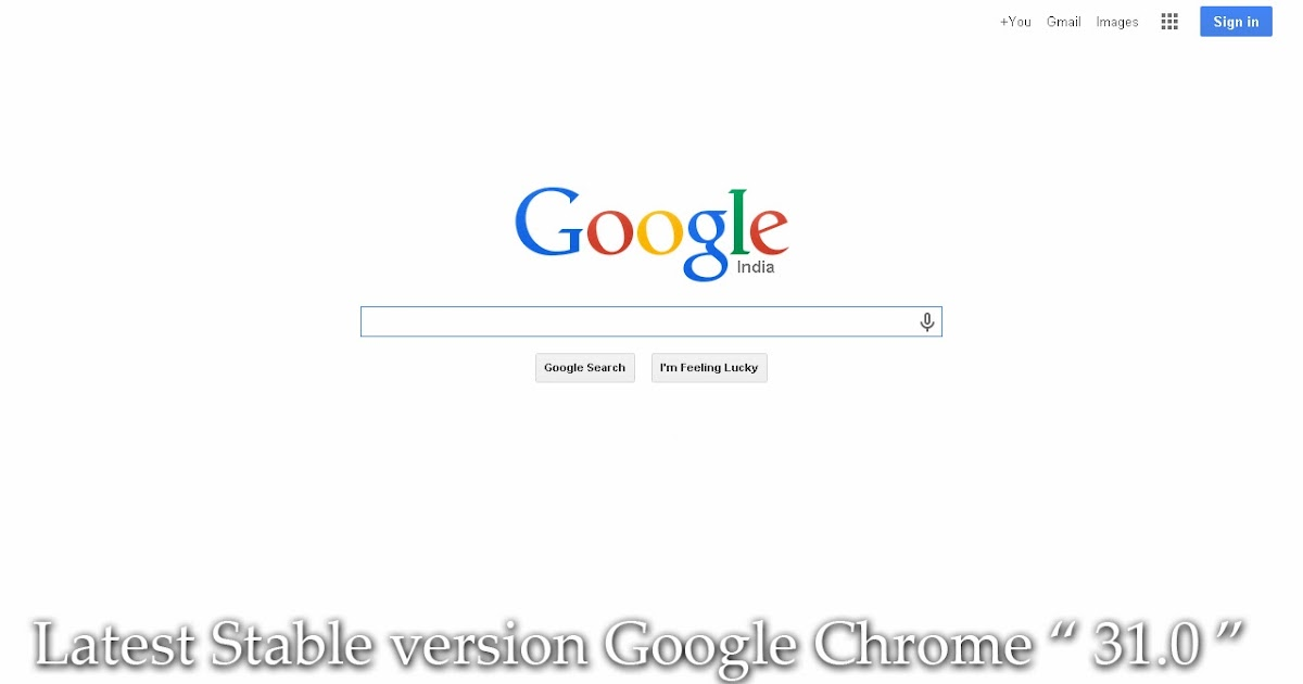 chrome version 31