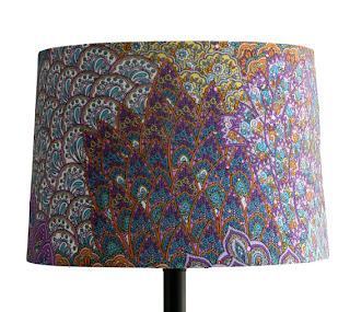 Affordably slipcover your existing lampshade from Amethyst Peacock ...