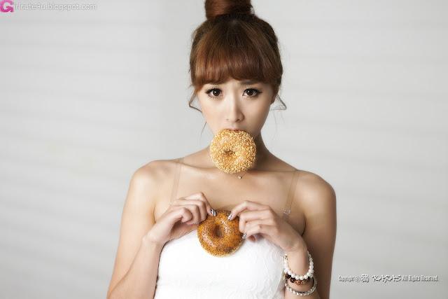 1 Minah - Short White Dress-very cute asian girl-girlcute4u.blogspot.com