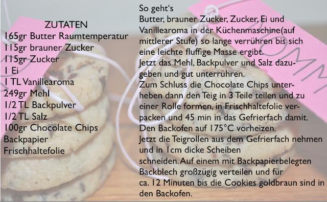 leckeres Cookie Rezept, chocolate chips, fridge cookies, lecker, yummy, Kekse