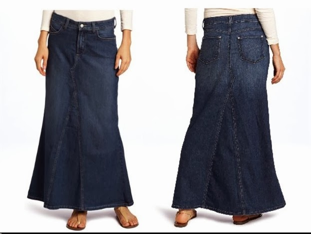 Wholesale Denim Skirts for Womens: Wholesale Long Denim-Skirts