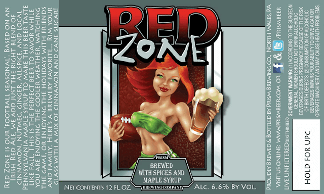 Prism Brewing Company Red Zone Label