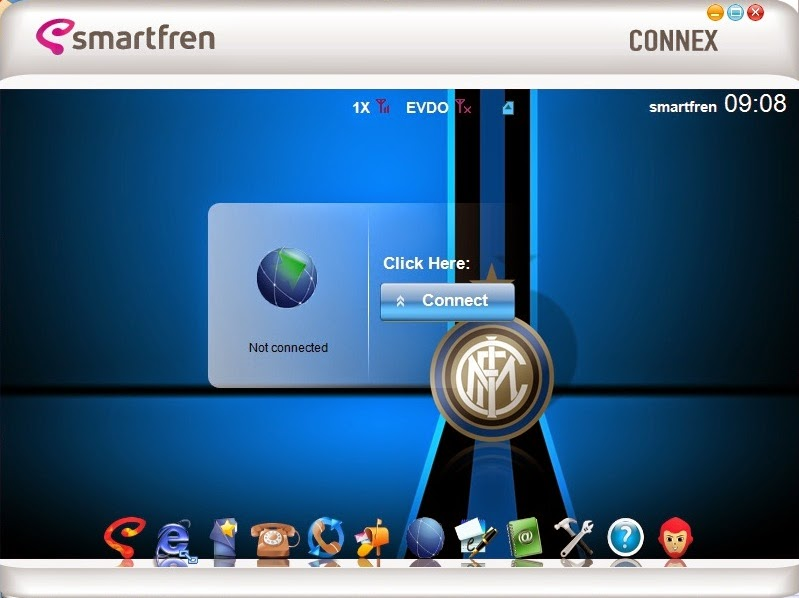 Download Skin Modem Smartfren Connex AC782 UI Edisi Inter Milan F.C