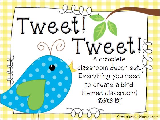Classroom Ideas With Birds ~ Life in first grade bird themed classroom
