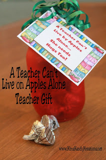 Teacher Can't Live By Apples Alone Teacher Gift.