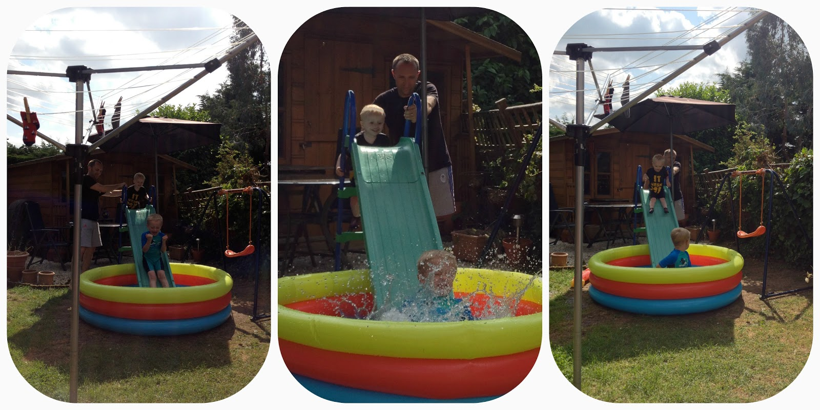 My monkeys don 39 t sit still paddling pool capers sun thurs for Biggest paddling pool