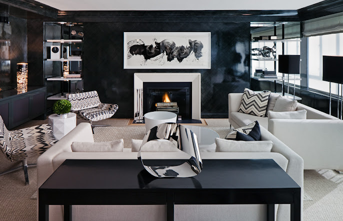 #2 Black & White Livingroom Design Ideas