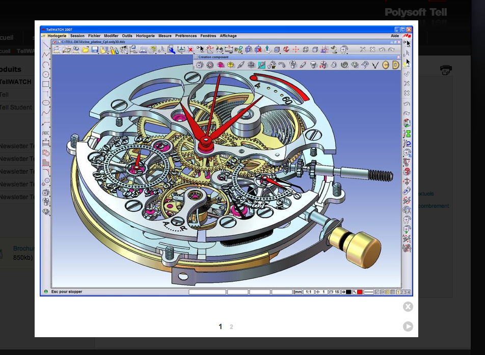 K h watchmaking competence centre tellwatch 3d cad cam for Software cad 3d