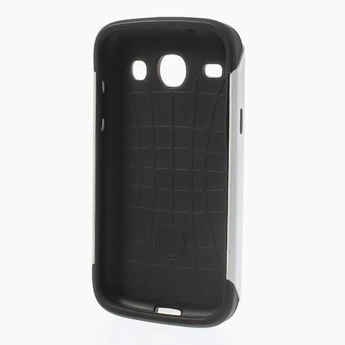 Slim Armor TPU & PC Hybrid Case for Samsung Galaxy Core I8260 I8262 - White