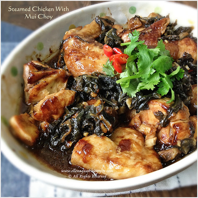 Cuisine paradise singapore food blog recipes reviews and travel steamed mui choy with pork belly is one of the traditional hakka dishes but here instead of using pork belly i have replaced pork with chicken forumfinder Choice Image