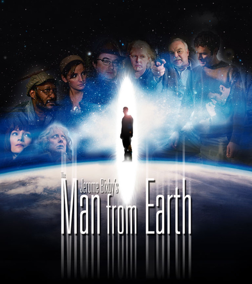 The Man from Earth poster - glowing human figure over earth