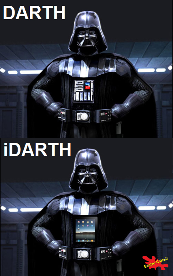 apple, ipad, darth vader, star wars, eeeita coisa